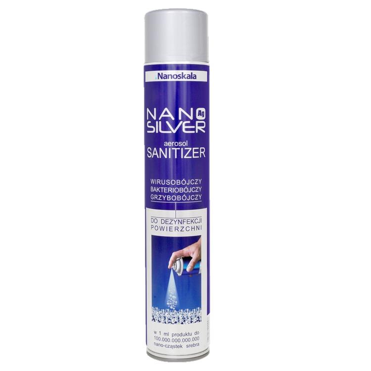 Nano Silver Aerosol Sanitizer – spray do dezynfekcji powierzchni z drobinami srebra, 300 ml