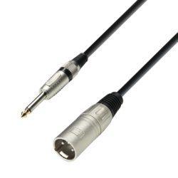 Adam Hall Cables K3 MMP 0100 Kabel mikrofonowy XLR męskie – jack mono 6,3 mm, 1 m