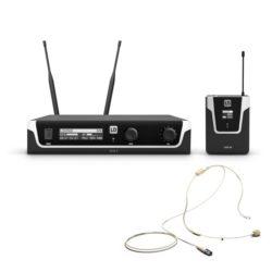 LD Systems U506 BPHH Bezprzewodowy system mikrofonowy z nadajnikiem Bodypack i zestawem nagłownym w kolorze beżowy
