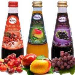 Mix soków. stwórz swój zestaw soków naturalnych BONINI.
