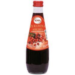 Sok z żurawiny Bonini. Bez dodatku cukru., bez konserwantó. 100% natury.