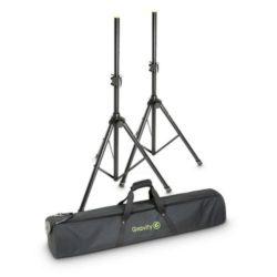 Gravity SS 5212 B SET 1 Zestaw 2 stalowych stojaków głośnikowych z torba transportowa