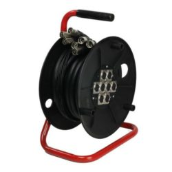 Adam Hall Cables K 8 C 15 D Kabel wieloparowy Multicore na bębnie z modułem scenicznym Stagebox 8/0, 15 m