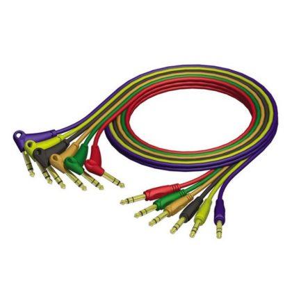 REF 790 090, Zestaw kabli krosowych jack stereo 6,3 mm – jack stereo 6,3 mm wtyczka kątowa, 0,9m