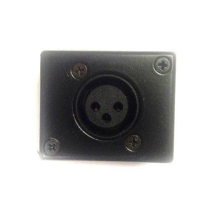 Gniazdo instalacyjne (natynkowe), XLR żeński, czarny