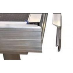 Listwa zaślepiająca, aluminium, do bezpośredniego zaczepienia - długość: 200cm