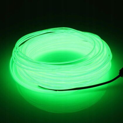LyTec – neon giętki, kabel świecący, przewód elektroluminescencyjny, 3,2 mm, zielony pojedynczy