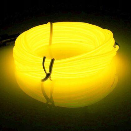 LyTec – neon giętki, kabel świecący, przewód elektroluminescencyjny, 3,2 mm, cytrynowy pojedynczy