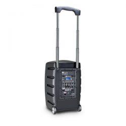 Zasilana z akumulatorów kolumna Bluetooth z mikserem i mikrofonem bezprzewodowym