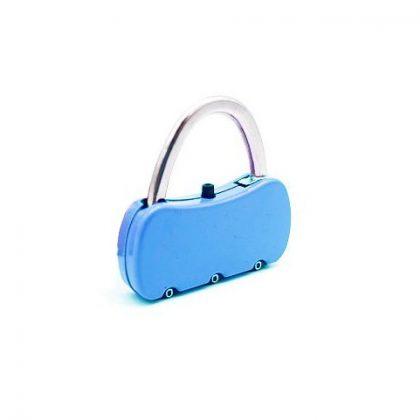 Kłódka na szyfr do bagażu, torby, szafki – niebieska