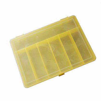 Organizer   Pojemnik   Pudełko na śrubki i drobiazgi – 7 przegródek – żółty